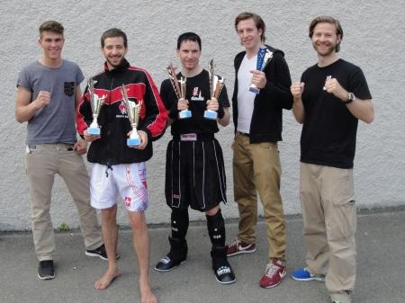 Manuel Siffert, Matthias Jenni, Remo Mathieu, Dominik Rehbi und Joël Marbach (Stefan Brunner fehlt auf dem Bild)